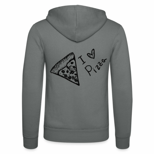 I LOVE PIZZA - Unisex Kapuzenjacke von Bella + Canvas