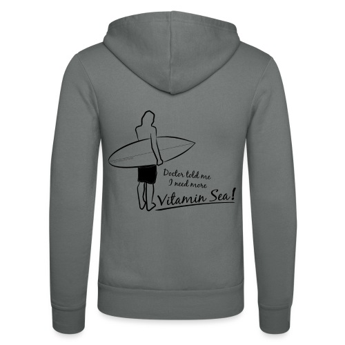 Surfer Vitamin Sea by Querverstand - Unisex Kapuzenjacke von Bella + Canvas