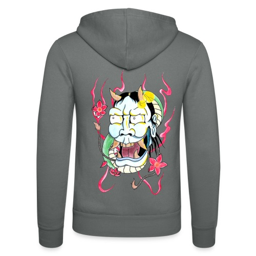 hannya mask - Unisex Hooded Jacket by Bella + Canvas