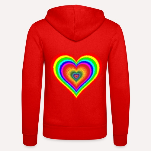 Heart In Hearts Print Design on T-shirt Apparel - Unisex Hooded Jacket by Bella + Canvas