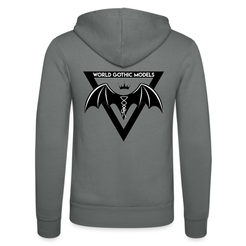 World Gothic Models Official Logo Design - Unisex Hooded Jacket by Bella + Canvas