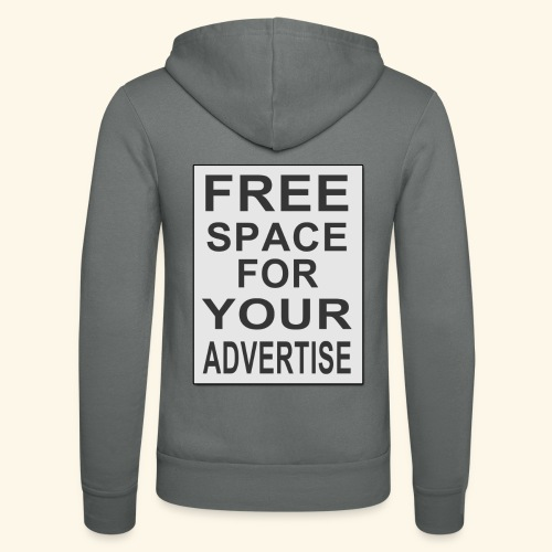 Free space for your advertise - Unisex Hooded Jacket by Bella + Canvas