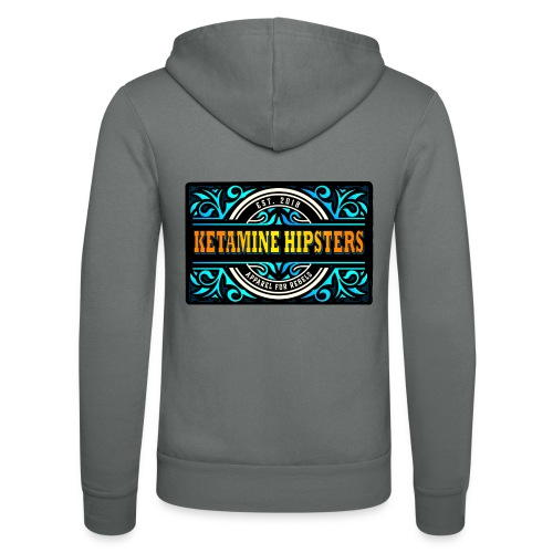 Black Vintage - KETAMINE HIPSTERS Apparel - Unisex Hooded Jacket by Bella + Canvas