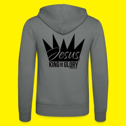 JESUS KING OF GLORY // Psalm 24:10 (BLACK) - Unisex Hooded Jacket by Bella + Canvas