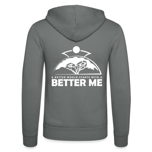 Better Me - White - Unisex Hooded Jacket by Bella + Canvas