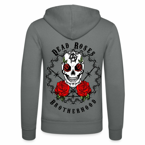 Dead Roses 2nd Logo - Unisex Hooded Jacket by Bella + Canvas