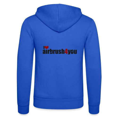 I Love airbrush4you - Unisex Kapuzenjacke von Bella + Canvas