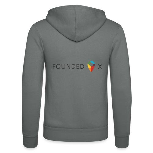 FoundedX logo png - Unisex Hooded Jacket by Bella + Canvas