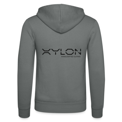 Xylon Handcrafted Guitars (plain logo in black) - Unisex Hooded Jacket by Bella + Canvas