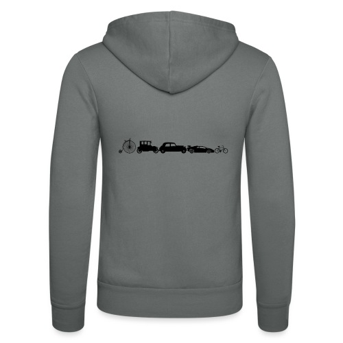 evolution of vechicles - Unisex hoodie van Bella + Canvas
