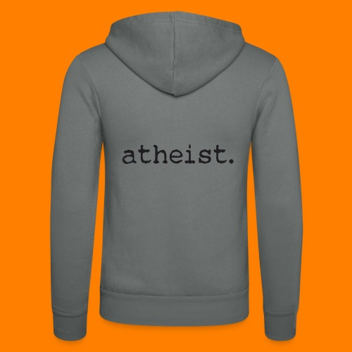 atheist BLACK - Unisex Hooded Jacket by Bella + Canvas