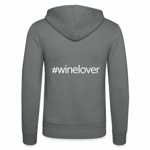 Winelover hashtag - Unisex Hooded Jacket by Bella + Canvas