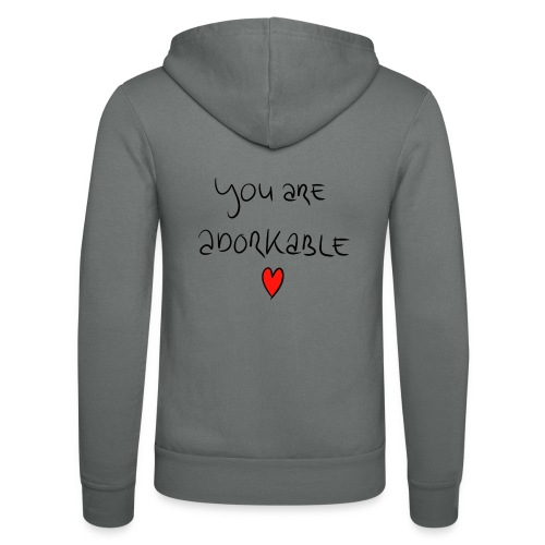 adorkable - Unisex Hooded Jacket by Bella + Canvas