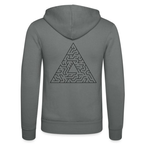 Triangle Maze - Unisex Hooded Jacket by Bella + Canvas