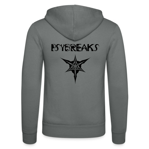 Psybreaks visuel 1 - text - black color - Veste à capuche unisexe Bella + Canvas