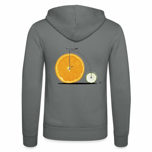 Fruit Bicycle - Unisex Hooded Jacket by Bella + Canvas