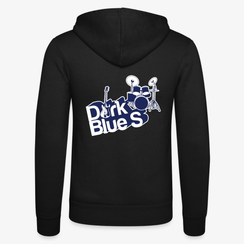 DarkBlueS outline gif - Unisex Hooded Jacket by Bella + Canvas