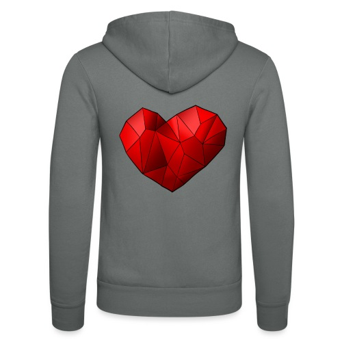 Heartart - Unisex Hooded Jacket by Bella + Canvas