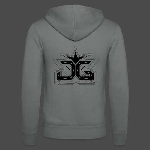 LOGO OUTLINE SMALL - Unisex Hooded Jacket by Bella + Canvas
