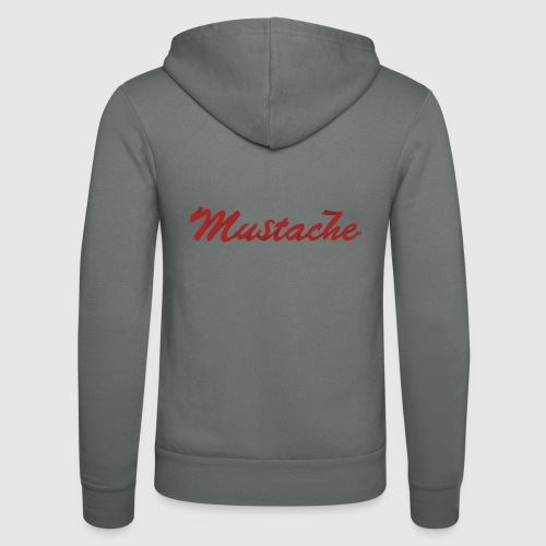 Red Mustache Lettering - Unisex Hooded Jacket by Bella + Canvas