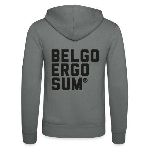 Belgo Ergo Sum - Unisex Hooded Jacket by Bella + Canvas