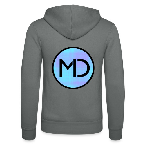MD Blue Fibre Trans - Unisex Hooded Jacket by Bella + Canvas