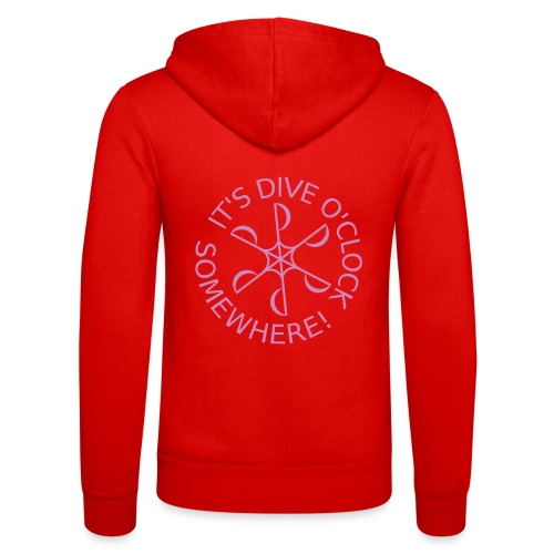 Dive o clock Pink - Unisex Hooded Jacket by Bella + Canvas
