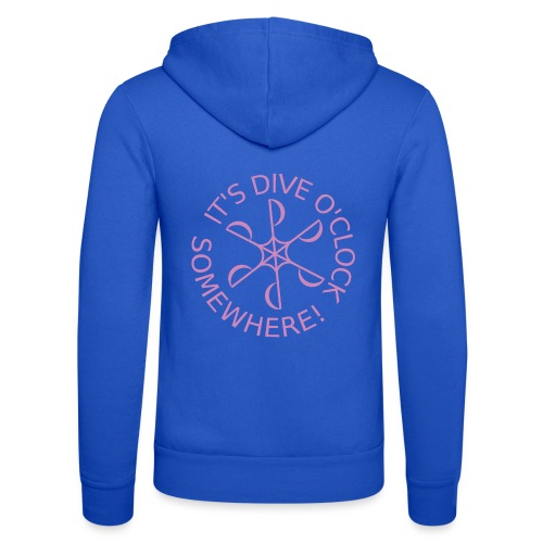 diveoclocklogodlpink png - Unisex Hooded Jacket by Bella + Canvas