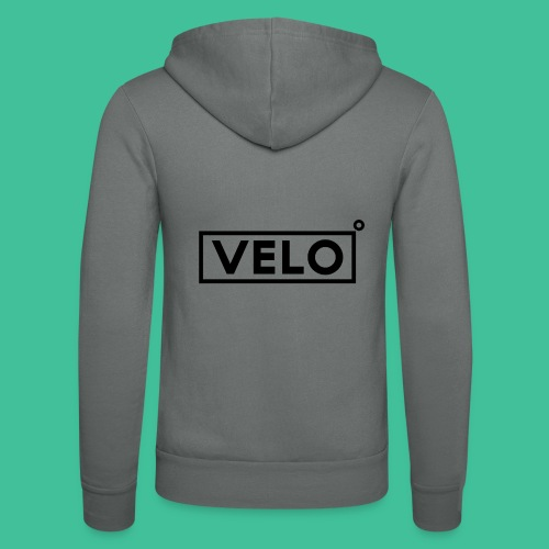 Velo Icon Blk - Long Sleeve Baseball Shirt W/N Clr - Unisex Hooded Jacket by Bella + Canvas
