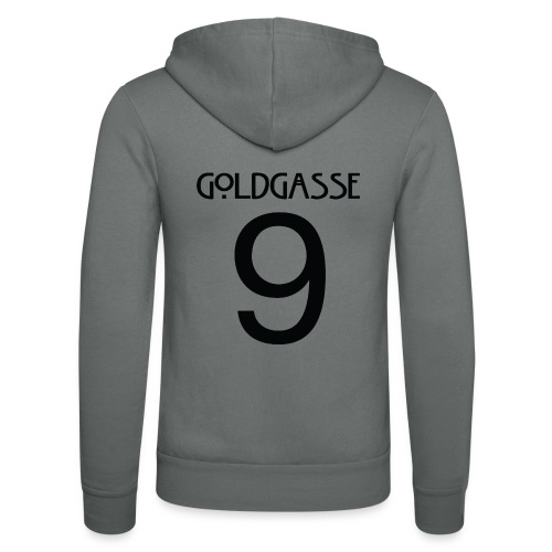 Goldgasse 9 - Back - Unisex Hooded Jacket by Bella + Canvas