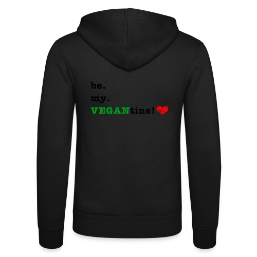 VEGANtine Green - Unisex Hooded Jacket by Bella + Canvas