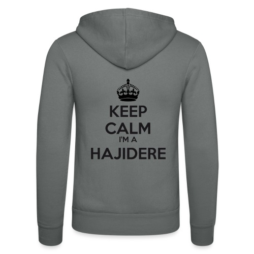 Hajidere keep calm - Unisex Hooded Jacket by Bella + Canvas