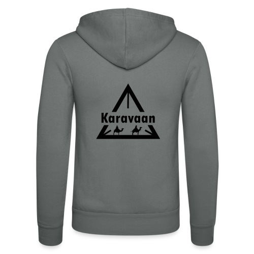 Karavaan Black (High Res) - Unisex hoodie van Bella + Canvas