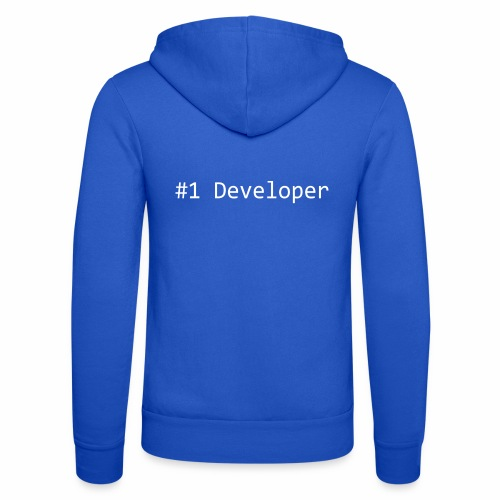 #1 Developer - White - Unisex Hooded Jacket by Bella + Canvas