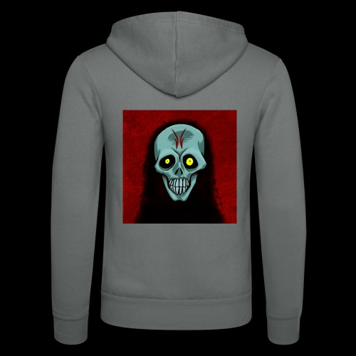 Ghost skull - Unisex Hooded Jacket by Bella + Canvas