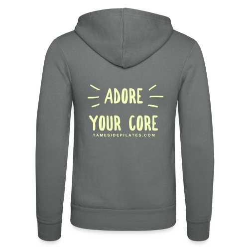 Adore Your Core - Unisex Hooded Jacket by Bella + Canvas