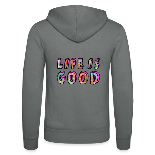 LifeIsGood - Unisex Hooded Jacket by Bella + Canvas
