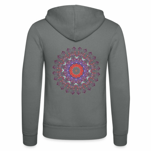 Orange mandala - Unisex hættejakke fra Bella + Canvas