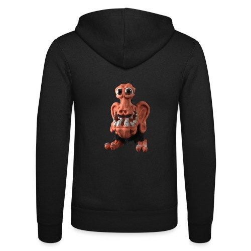 Very positive monster - Unisex Hooded Jacket by Bella + Canvas