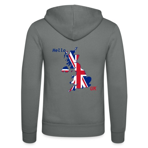 hello UK Kollektion - Unisex Kapuzenjacke von Bella + Canvas