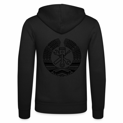 DDR Tuning Coat of Arms 1c (+ Your Text) - Unisex Hooded Jacket by Bella + Canvas