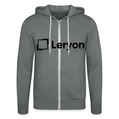 Leryon Text Brand - Unisex Hooded Jacket by Bella + Canvas