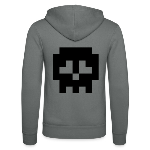 Retro Gaming Skull - Unisex Hooded Jacket by Bella + Canvas