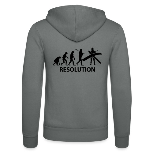 Resolution Evolution Army - Unisex Hooded Jacket by Bella + Canvas