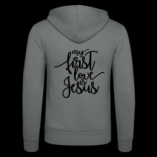 My fist love is Jesus - Unisex Kapuzenjacke von Bella + Canvas