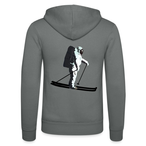 Moonlight Skiing - Unisex Hooded Jacket by Bella + Canvas