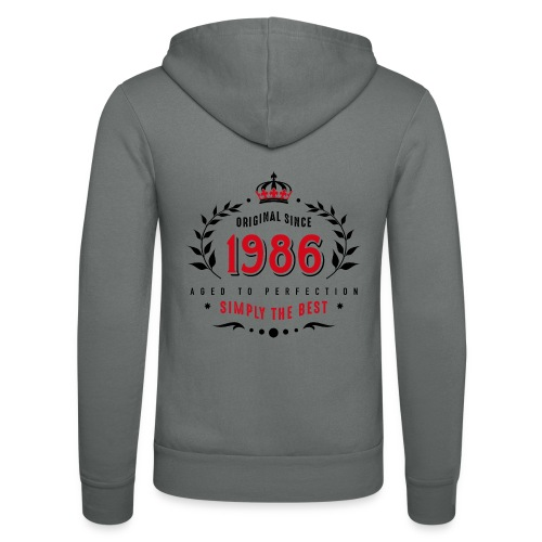 original since 1986 simply the best 30th birthday - Unisex Hooded Jacket by Bella + Canvas