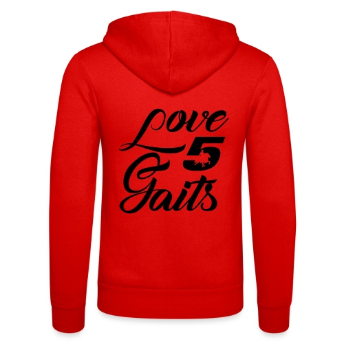 Love 5Gaits - Unisex Hooded Jacket by Bella + Canvas