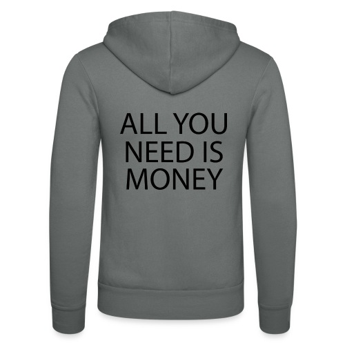 All you need is Money - Unisex-hettejakke fra Bella + Canvas