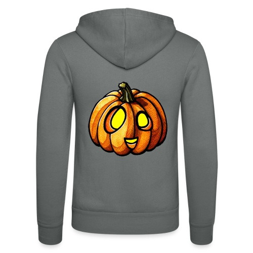 Pumpkin Halloween watercolor scribblesirii - Unisex hættejakke fra Bella + Canvas